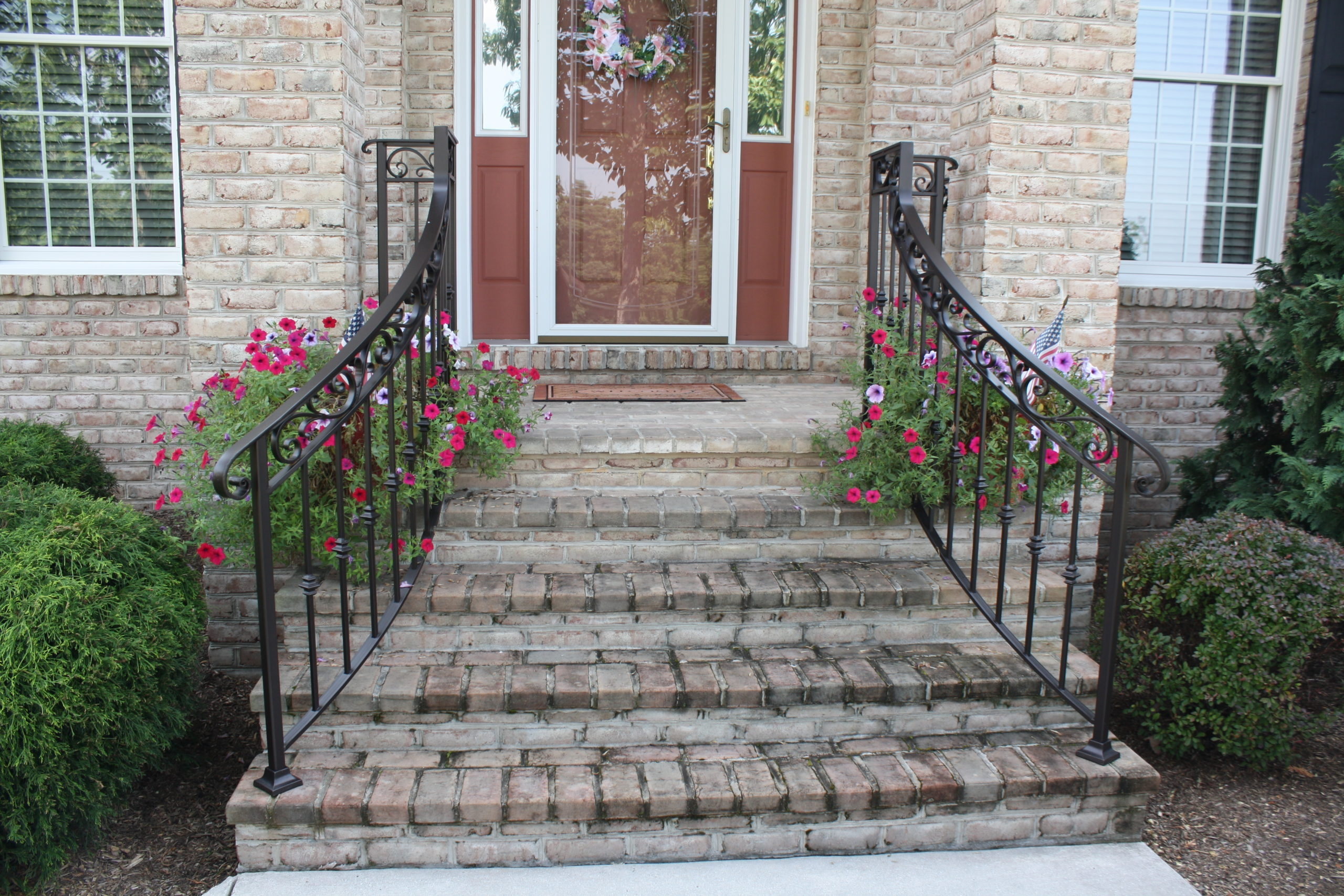 Exterior Railings Antietam Iron Works | Iron Railings For Outside Steps | Front Porch | Deck Railing | Cast Iron | Railing Systems | Staircase