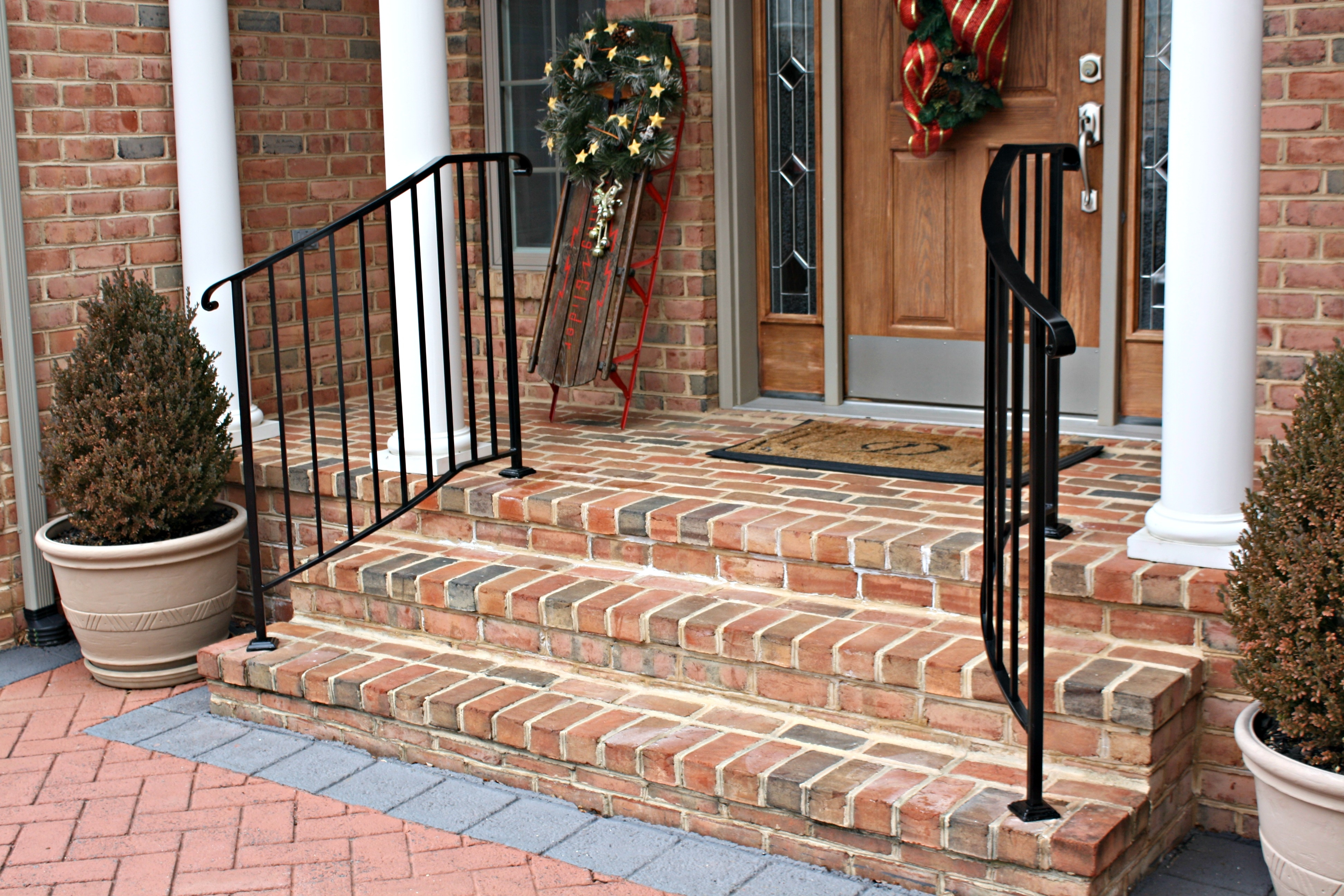 Improve The Look And Safety Of Your Front Step Railings Antietam | Handrails For Front Steps | Small House | Granite | Easy | Cast Iron | Wrought Iron