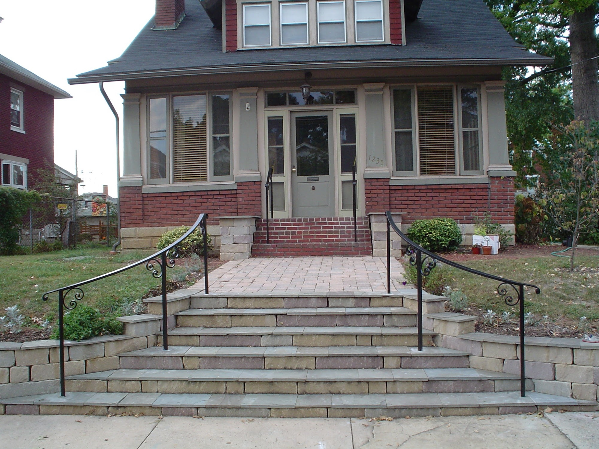 Exterior Railings Antietam Iron Works   Outside Metal Railings For Steps   Galvanized Iron   Wrought Iron Staircase Used   Decorative Iron Stair Rail Support   Steel Railing   Mixed