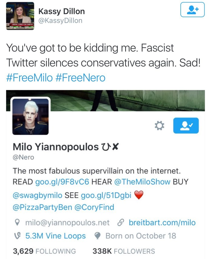 Milo Yiannopoulos permanently banned from Twitter
