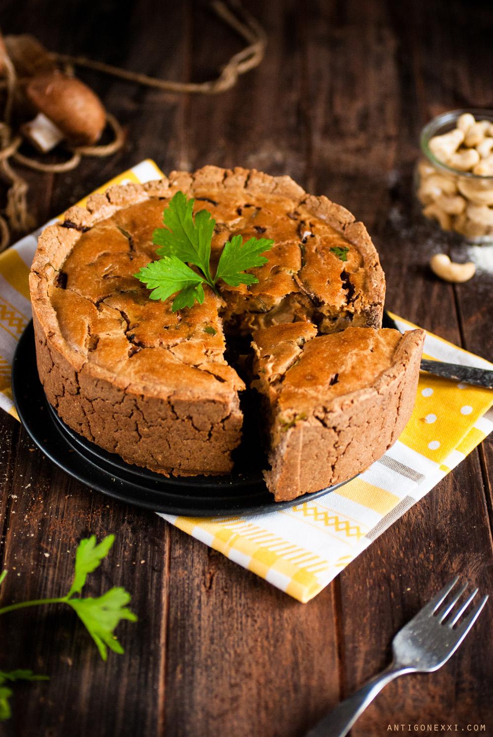 Quiche au fromage #vegan #sansgluten | antigone21.com