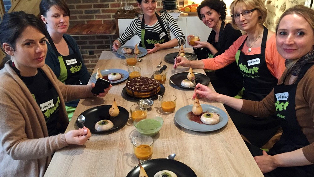 Atelier de cuisine végane de Melle Pigut {Antigone21.com}