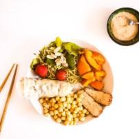 Rouleaux de printemps, pois chiches & tofu fumé