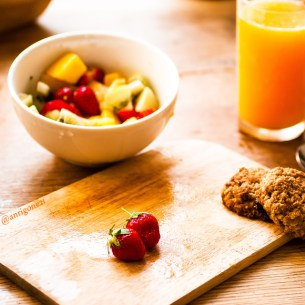Salades de fruits & biscuits