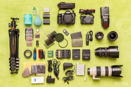 Equipo fotográfico de viaje by Machbel