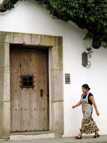 Maid and door