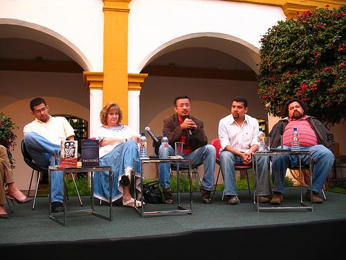 L-R: Ronald Flores, Ana María Rodas, Javier Payeras, Julio Serrano, Francisco Alejandro Méndez