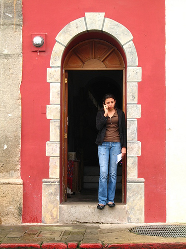 Narrow Arch-doorway in Antigua