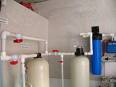 Carbon and Organic Filters at Water Station Hunapu
