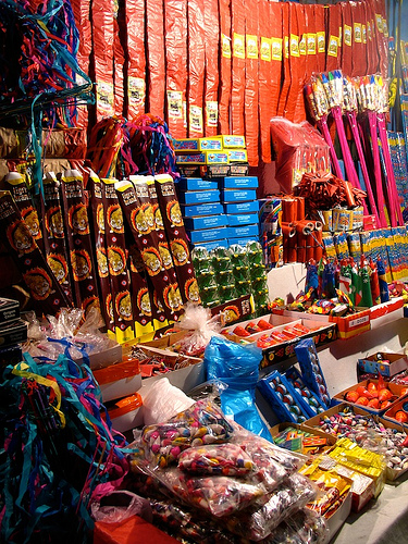 Typical Guatemalan Fireworks Stand