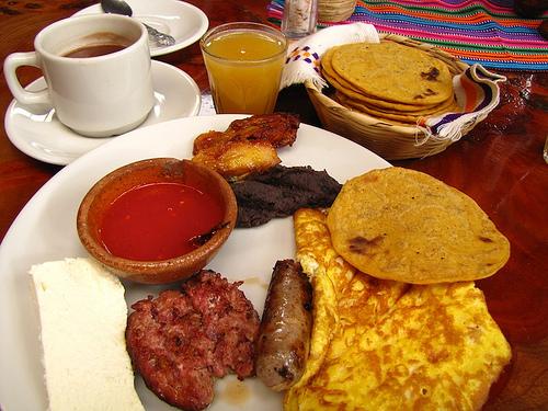 Typical Guatemalan Breakfast