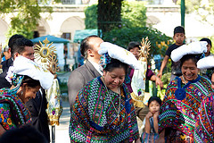 The Mayas Welcoming Monseñor Oscar Julio Vian, Archbishop of Guatemala by Rudy Girón