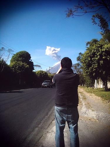 Fuego Volcano Erupting by Rudy Girón
