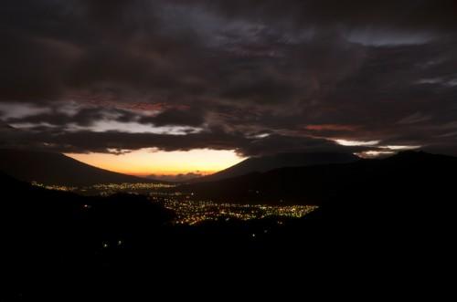 Sunset Amongst Volcanoes by Arturo Godoy