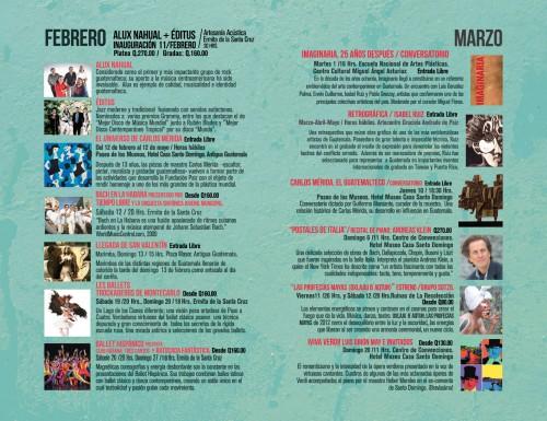 XI Festival Internacional De Cultura Paiz Schudule
