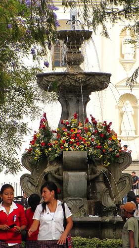 Mermaids Fountain with Flowers by  Rudy Girón