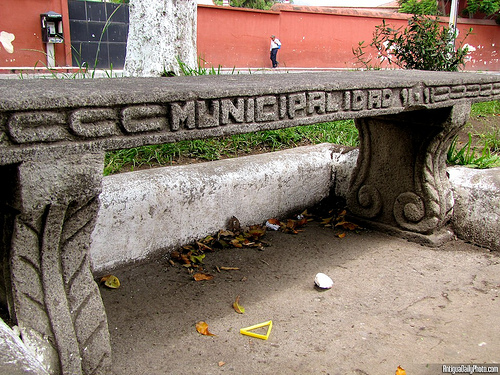 Concrete Bench by Rudy Girón