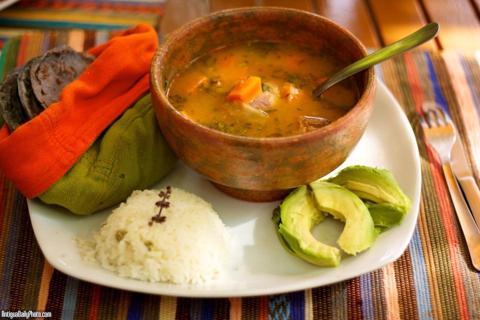 Guatemalan Cuisine Caldo De Gallina Criolla Antiguadailyphoto Com