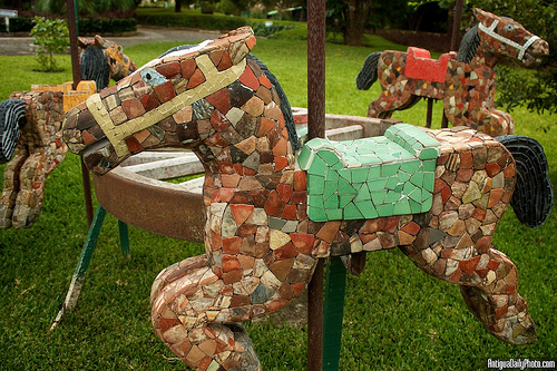 Garden Decoration: Ceramic Horses