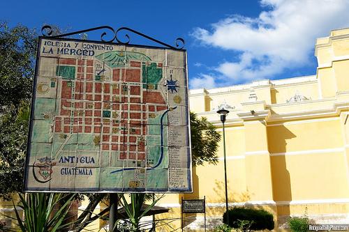 Iglesia y Convento La Merced sign