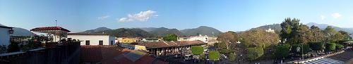 Panoramic Vista of Antigua's Central Park by Norman Avila