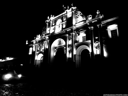 Dramatic Lighting of the Cathedral of Antigua Guatemala by Rudy A. Girón