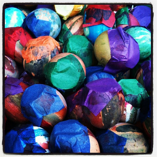 Colorful Eggshells for the Guatemalan Carnival by Rudy A. Girón