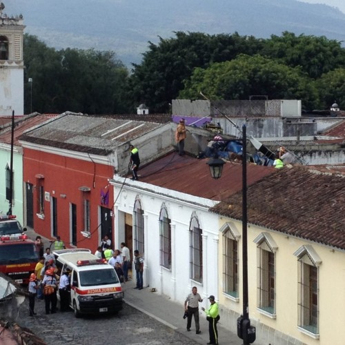 Helicopter Crashes in Antigua Guatemala by Christian Van Der Henst @cvander
