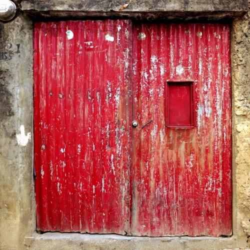 Colorful Red Door by Rudy Girón