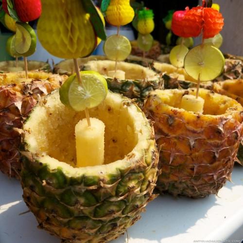 Natural containers for Mojitos and Piñas Coladas by Rudy Girón
