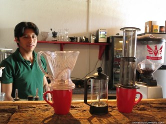 How would you like your W.B.C. Guatemalan coffee prepared this morning by Rudy Giron
