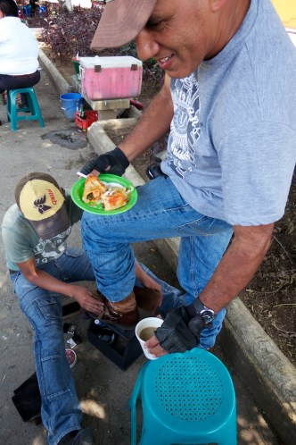 Shoe shine and Snack Time by Rudy Giron