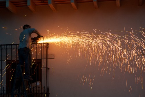 Sparks in Antigua Guatemala by Rudy Giron