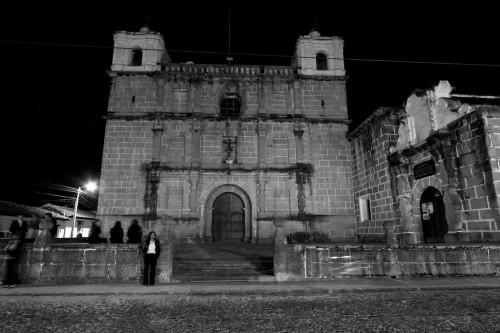 """Black and White of Escuela de Cristo, aka Parroquia Nuestra Señora de los Remedios  by Rudy Giron - <a href=""""http://www.rudygiron.com"""" >www.rudygiron.com</a>"""