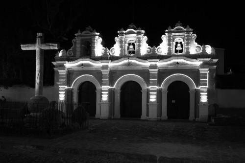 """Dramatic illumination of El Calvario Church by Rudy Giron - <a href=""""http://www.rudygiron.com"""" >www.rudygiron.com</a>"""