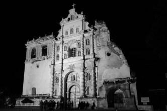 San Francisco El Grande Façade in Black and White by Rudy Giron