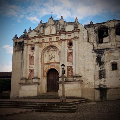 Façade of Parroquia de San Juan del Obispo by Rudy Giron
