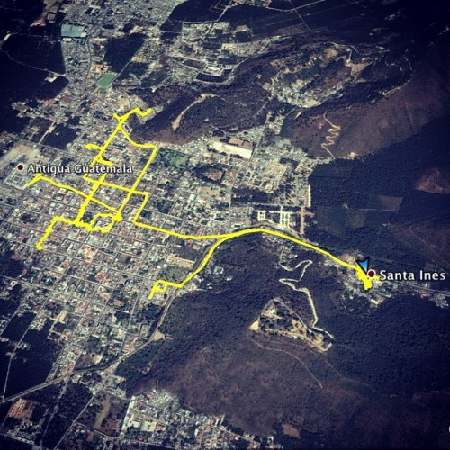 Map of Lent Sunday Processions: 2nd Santa Inés by Nelo Mijangos