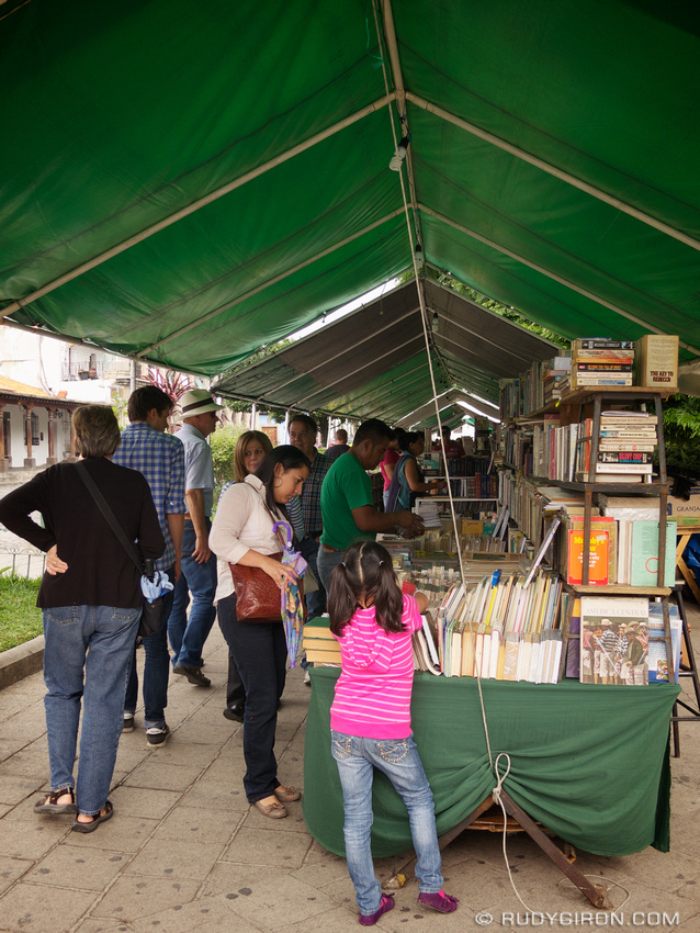 Rudy Giron: AntiguaDailyPhoto.com &emdash; Book Fair at Parque Central in Antigua Guatemala