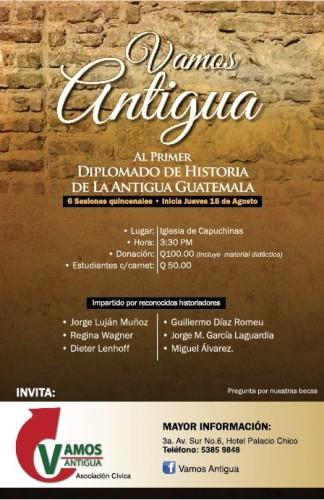 Flyer of History of Antigua Guatemala Diplomate