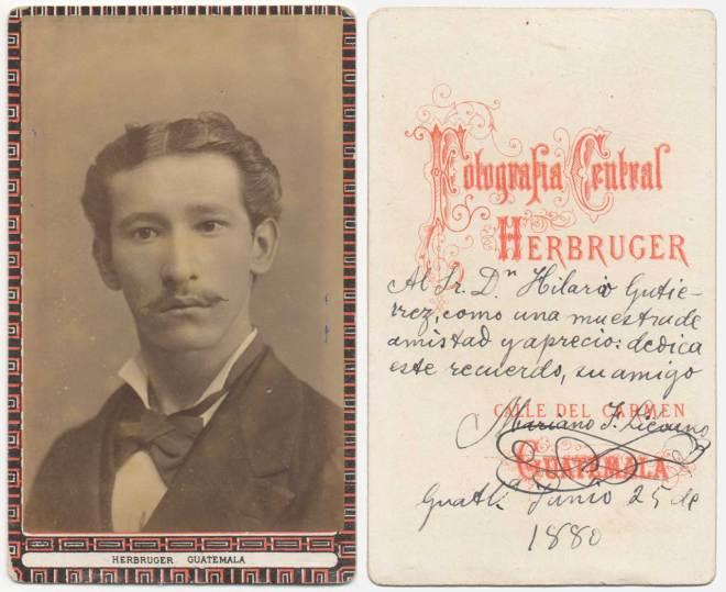 1880 Portrait by Fotografía Central Herbruger
