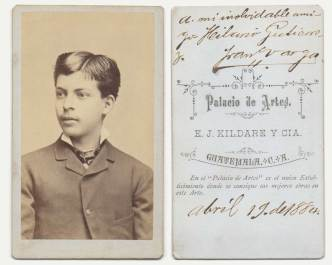Antique Portrait of a Young Man from 1884