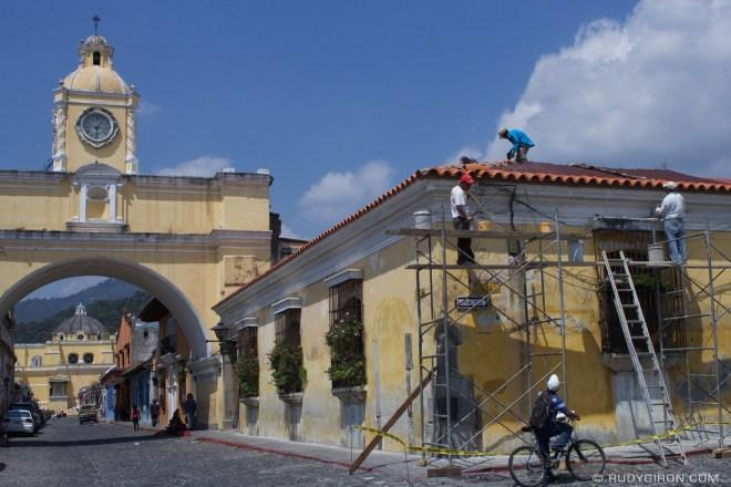 Rudy Giron: AntiguaDailyPhoto.com &emdash; Roof repairs before the rains
