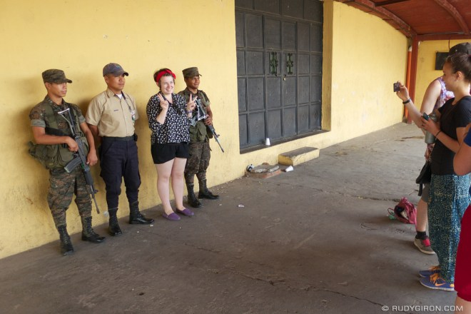 Rudy Giron: Antigua Guatemala &emdash; Tourists taking their picture with the Guatemalan soldiers