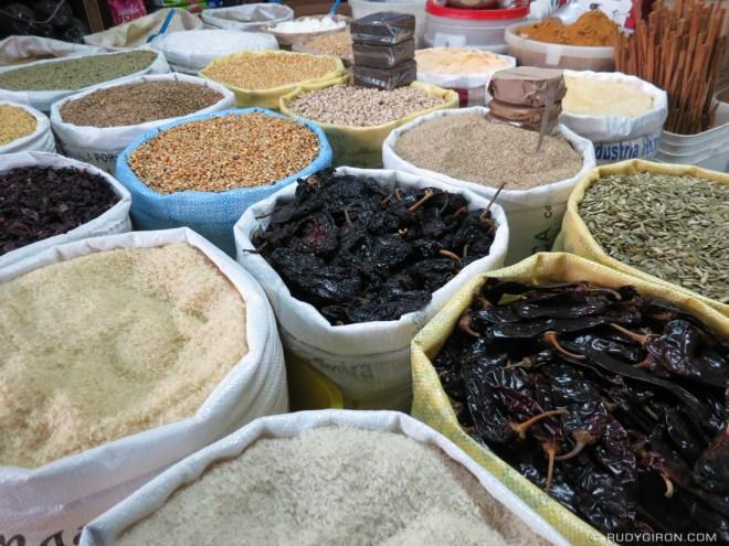 Rudy Giron: Antigua Guatemala &emdash; Typical market vendor of grains