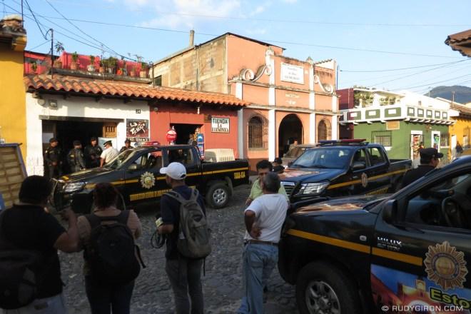 Rudy Giron: Antigua Guatemala &emdash; Police Raid at La Terraza