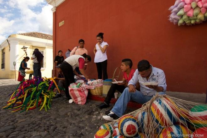 Rudy Giron: Antigua Guatemala &emdash; Lunch Time on the Streets of Antigua Guatemala