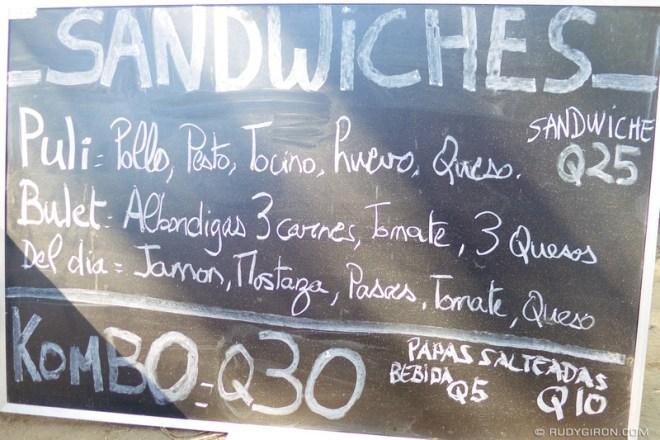 Rudy Giron: Antigua Guatemala &emdash; Shtilero Food Truck Menu