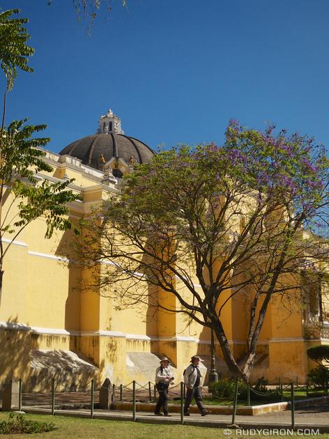 Rudy Giron: Antigua Guatemala &emdash; Side view of Iglesia de la Merced, Antigua Guatemala