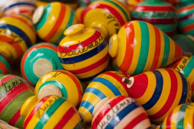 Rudy Giron: Antigua Guatemala &emdash; Colorful Guatemalan Spinning Tops